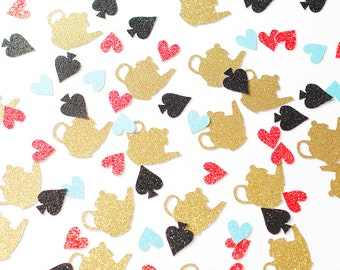 Alice in Wonderland Teacup Glitter Confetti Table Scatter - Girl's Party Decor & Supplies