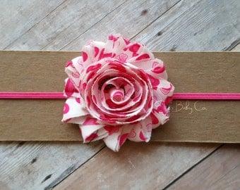 Pink Headband/ Baby Headband/ Infant Headband/ Baby Headband Pink/ Girls Headband/ Baby Headband Pink/ Valentine Headband
