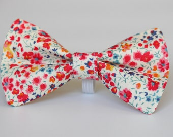 Floral Liberty Dog Bow Tie
