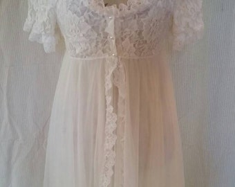 Hard to Find Tosca Of California Peignoir Robe and Gown set Size Large