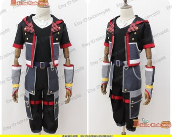 Kingdom Hearts 3 Sora Cosplay Costume & red with necklace