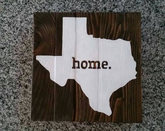 12x12 Texas, TX State silhouette - Painted Board
