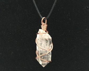 Quartz Crystal Point Pendant Necklace Charm