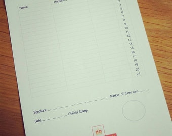 A5 Proof of postage forms