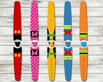 Character Waterproof Disney Magic Band Skin or Decal 1.0 RTS Ready To Ship Disney Sticker for Magic Bands | Mickey Minnie Donald Pluto Goofy