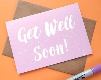 Get Well Soon Card, Get Well Card, Feel Better Soon Card, Feel Better Card, Get Better Card, Get Better Soon Card
