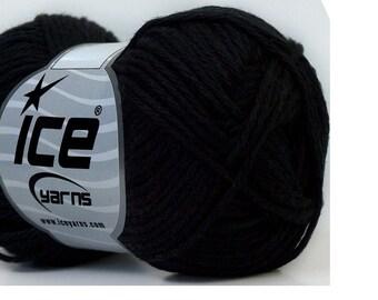 Black Cotton Yarn Knitting Crochet