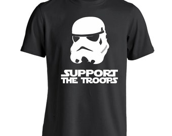 Support The Troops Funny Stormtrooper Costume Outfit Army Usmc Men's T-Shirt DT0066