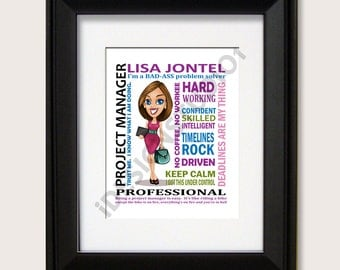 Personalized Project Manager Gift, Boss Day, Boss Gift, Business Woman Gift, Project Manager , Birthday Gift