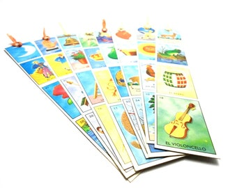 loteria bookmark, mexican bingo bookmark,