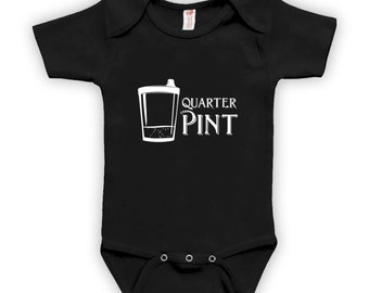 1/4 Pint - Baby Clothes, Baby Boy or Girl Bodysuit, Baby Shower Gift Ideas, Baby Shower Gift Ideas for Boys, Gift for Baby Shower CT-413