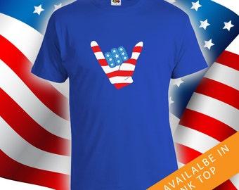 Fourth of July Hang 10 shirt - mens womens t-shirts, 4th of july t-shirt, fourth of july t-shirt, womens t-shirt, merica shirt- CT-485