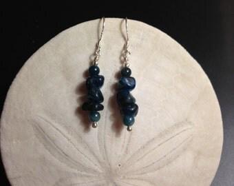 Beautiful London Blue Apatite Drop Earrings