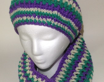 3-Colors Set Women Beanie and Infinity Scarf