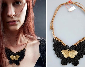 Lace and Butterfly Necklace