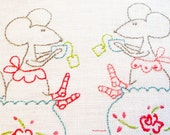 PDF Hand Embroidery Pattern, Miss Mousey, Afternoon Tea, Embroidery Pattern, Quilt Pattern, Digital Pattern, Stitchery