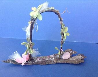 Unique Handmade Miniature Wedding Arch Wedding Fairy Garden Decor Wedding Decor Terrarium Decor Fairy Garden Accessories