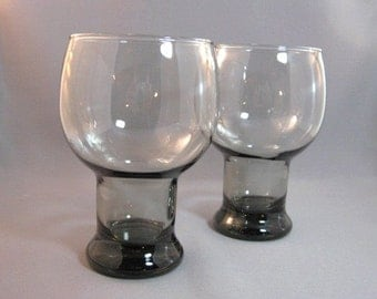 Set of 2 vintage 70's smoke gray glasses