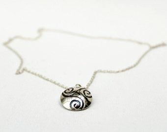 Celtic Spiral Pendant - Silver Spiral Pendant - Triple Spiral Pendant - Sterling Silver Pendant - Sterling Silver Necklace - Celtic Necklace