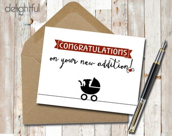 Instant Download Congratulations New Dog Puppy Card / Congratulations / New Addition / Dog Lovers - Printable
