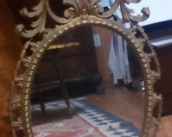 REDUCED Vintage Synthetic Material Rocco Mirror...Awesome..A muct Have
