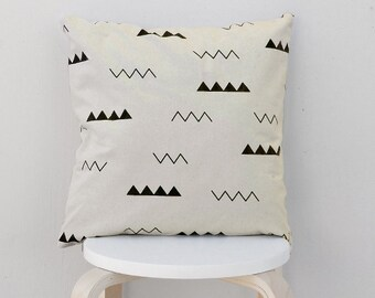 Modern triangle pillow Case, Beige triangle pillow cover, Geometric cushion cover