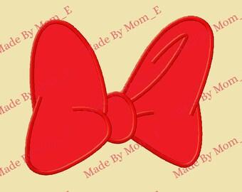 Mrs Mouse Bow Applique