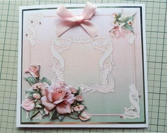 Pink Roses 3D Card