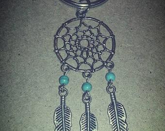 Boho Dreamcatcher Feather Keychain