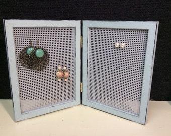 Earring storage, earring frame, earring display, stud earring stand, Jewelry frame, stud earring holder, earring, organizer for earrings