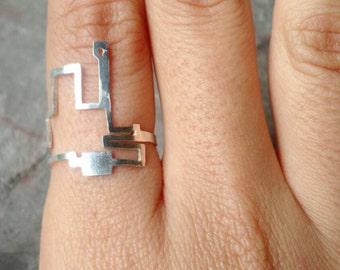 Chicago Marathon route silver ring