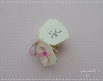 Small Tags for wedding favors-ivory-Tag Labels baptism-birthday-wedding