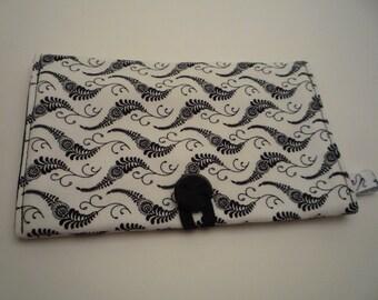 PASSPORT CASE/ Fabric cover passport/ Black and white