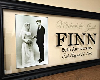 50th Anniversary Gifts for Parents,50th Anniversary Gifts, 50th Wedding Anniversary Gifts,  50 Anniversary Gift, Parents Gift, 10X20