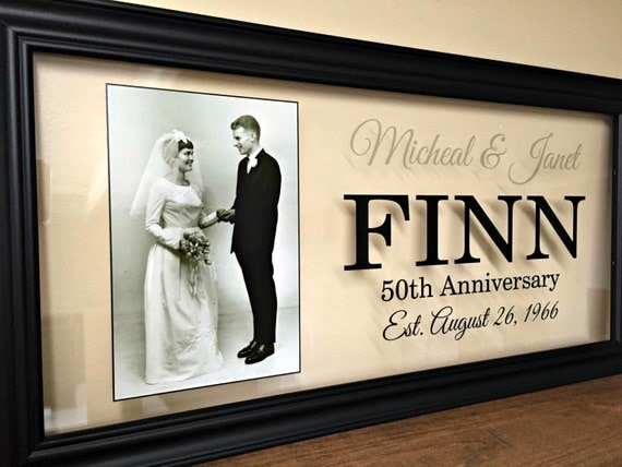Fiftieth Wedding Anniversary Gifts: 1000+ Ideas About 50th Anniversary Gifts On Pinterest