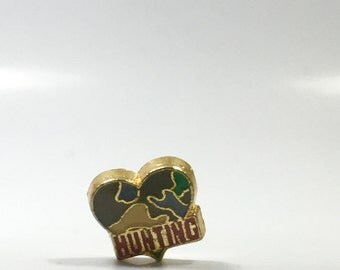 Hunting camouflage heart floating charm