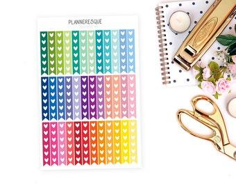 Checklist Planner Stickers, 36 CheckList Stickers, list stickers, check list stickets, flag checklist stickers, heart checklist stickers- MC