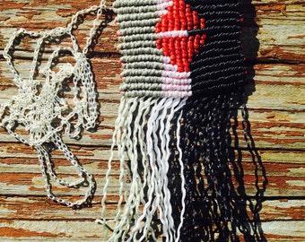 Macrame pendant with fringe