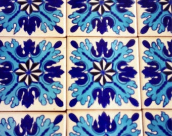Handmade,Hand Painted Pool.Back Splash,Kitchen,Bath,Patio Tiles set of 10