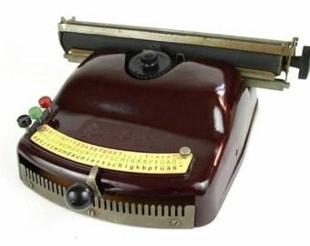 Sale 20% off - Bambino typewriter - Vintage typewriter toy -  Optima typewriter