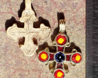 Replica-reconstruction of medieval Byzantine cross with Champlevee hot enamel