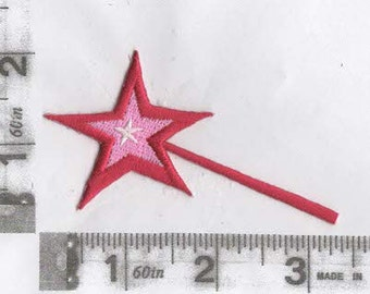 Red Magic or Fairy wand iron on patch