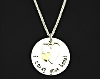 I CARRY Your HEART (in my heart) Necklace