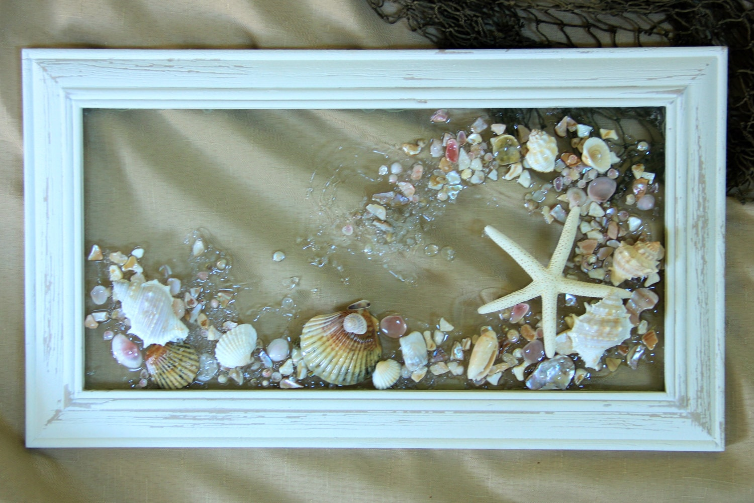 Sea Glass Art Made Of Sea Shells For Nautical Decor Nautical