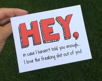 Funny I love you card - Funny Friendship card - Funny Anniversary card - Funny Long Distance Card - Long Distance Relationship