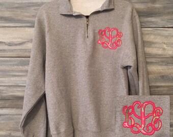 Lilly Pulitzer Monogram Sweatshirt, Monogram Quarter Zip, Monogram Pullover, Monogram Sweatshirt, Quarter Zip