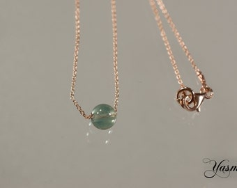 Fluorite on 925 Silver rose gold plated