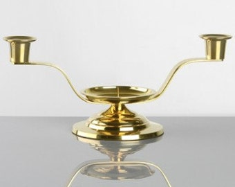 Brass  or Silver Wedding Unity Candle Holder Stand