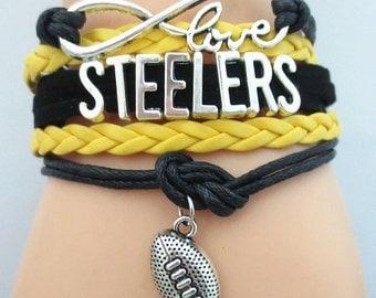 Steelers Football Bracelet