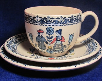 1960/70s Johnson Brothers Hearts and Flowers Ironstone Teacup & Saucer or Trio or Extra Saucer Etc.